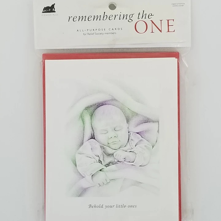 CF-  Card - Remembering the One - Cards - Baby Blessing - 6pk<BR>幼児の祝福 メッセージカード