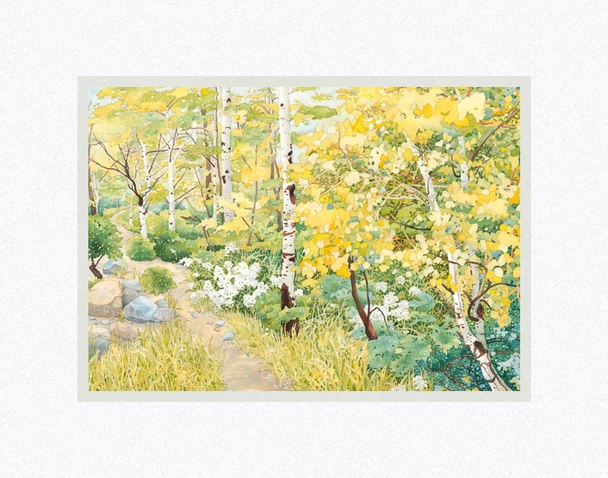 AF - 7x10.5 - Print - The Road Less Traveled by Anne Bradham - 7x10.5 - Print - 7x10.5 print matted to 11x14<BR>旅行者のいない道 27.9 cm x 35.6 cm