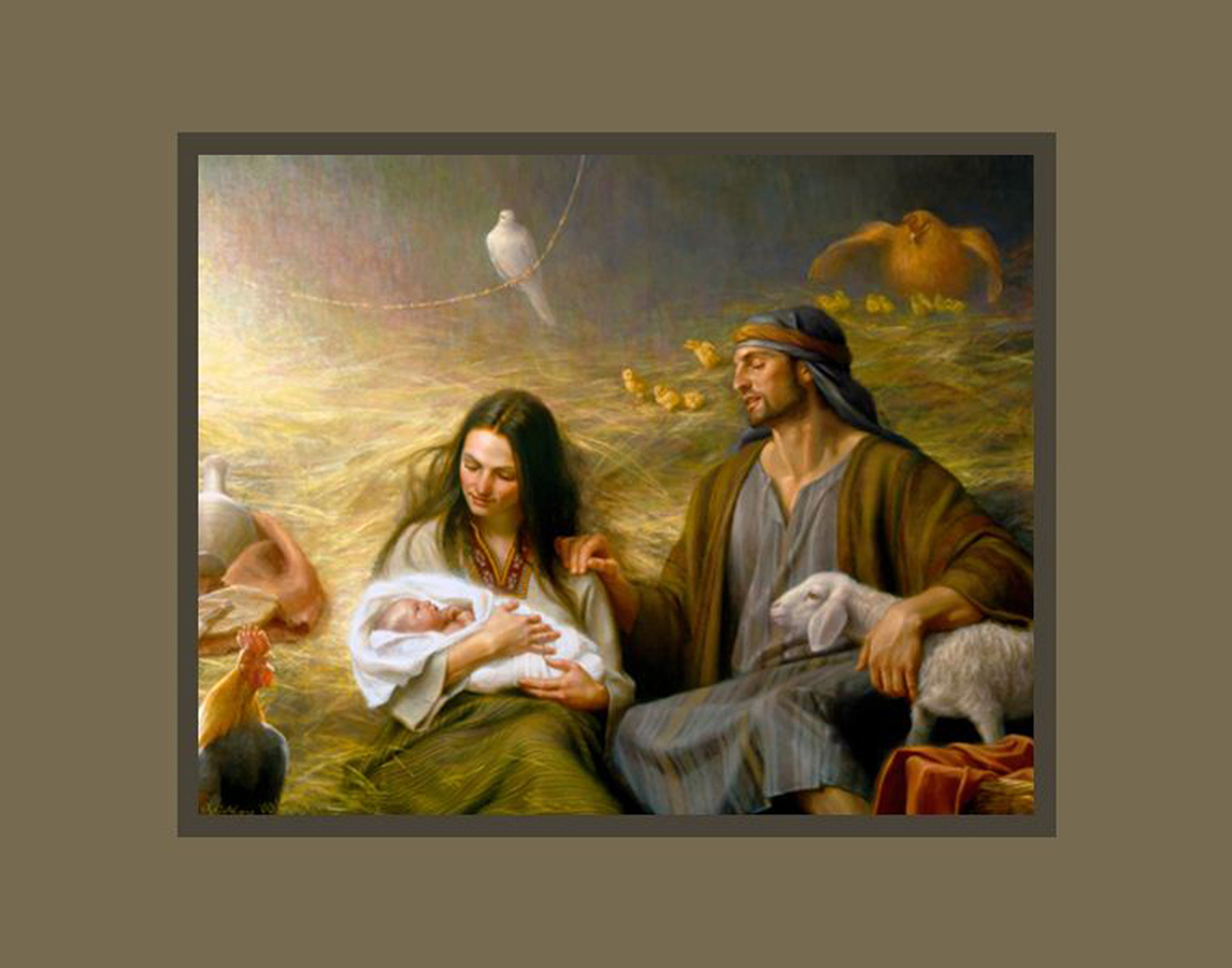 AF -11×14 Print - A Savior Is Born / 11x14 matted/Joseph Brickey<BR>救い主の生誕 11×14 マットプリント