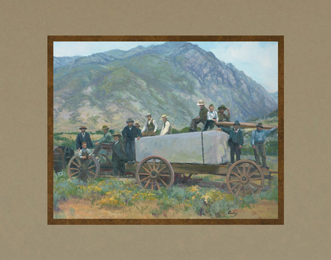 AF -11×14 Print - Builders of the Kingdom / 11x14 matted/Linda Curley Christensen<BR>王国の働き手 11×14 マットプリント