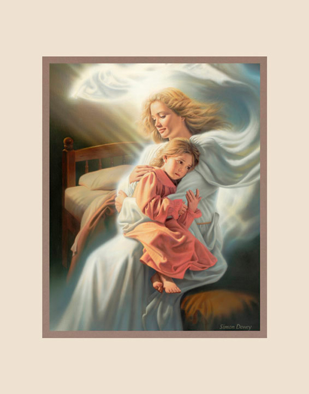 AF -11×14 Print - Angels Among Us / 11x14 matted/Simon Dewey<BR>天使に囲まれて 11×14 マットプリント