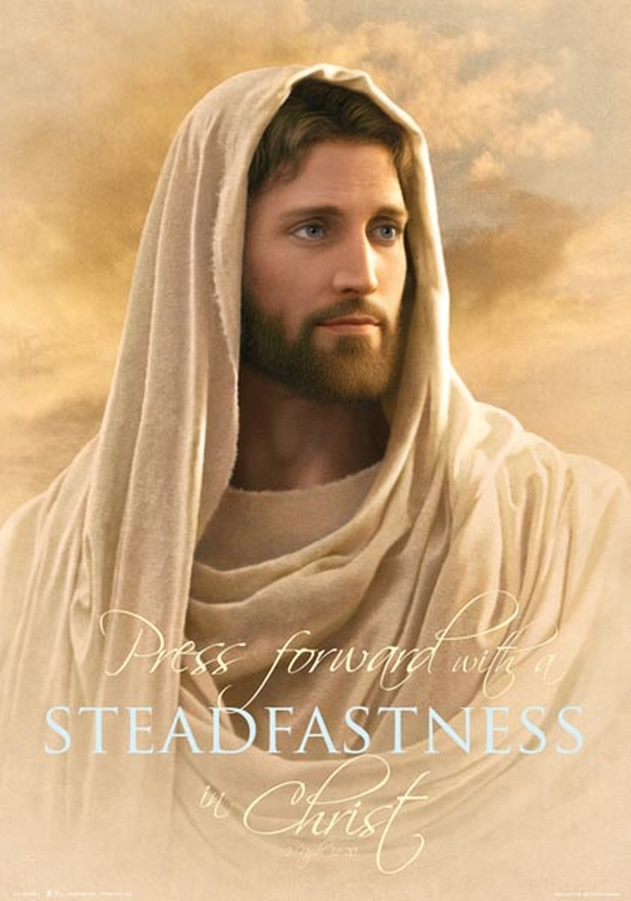 AF - 14×20 Poster - Press forward with a steadfastness in Christ - 14x20 poster featuring Grace and Truth by Simon Dewey (Special)<BR>【ポスター】キリストの確固とし力強く進む「Grace and Truth 」by サイモンデューイ (35.6cm×50.8cm)