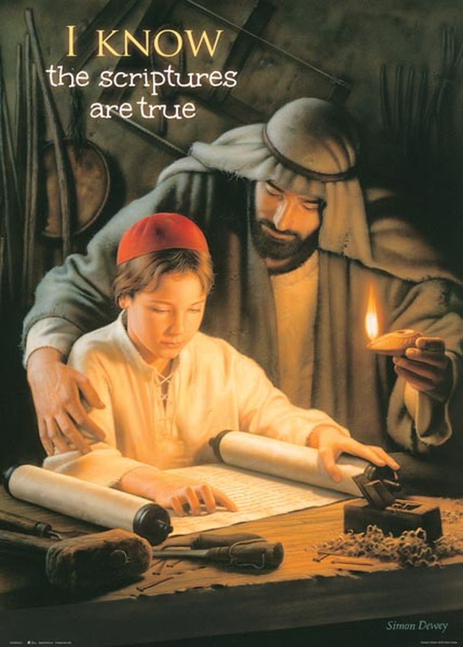 AF - 14×20 Poster - I Know the Scriptures are True - 14x20 Poster featuring Growing in Wisdom by Simon Dewey (Special)<BR>【ポスター】聖文が真実であることを知っています 「Growing in Wisdom」by サイモン・デューイ (35.6cm×50.8cm)