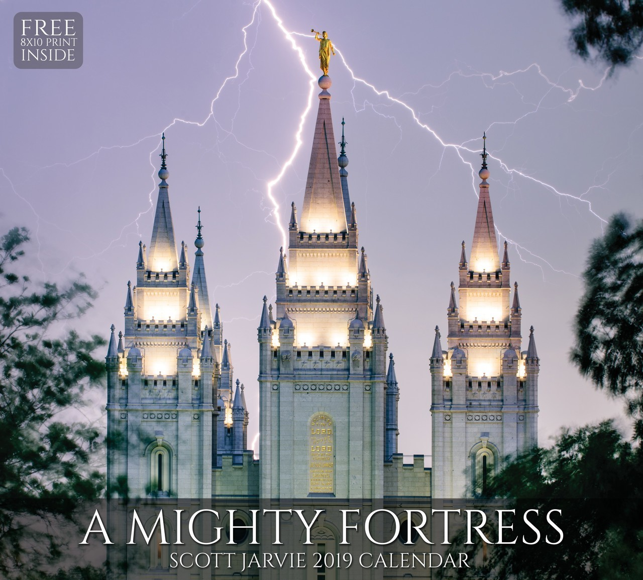 AF - Calendar - 2019 Scott Jarvie Calendar - A Mighty Fortress Temple (Free 8X10 Print Inside) <BR>2019年 スコット・ジャビー カレンダー A Mighty Fortress Temple【壁掛け】