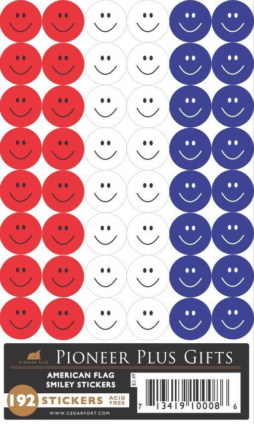 CF - Stickers - American Flag Smiley stickers<BR>アメリカの国旗カラーステッカー