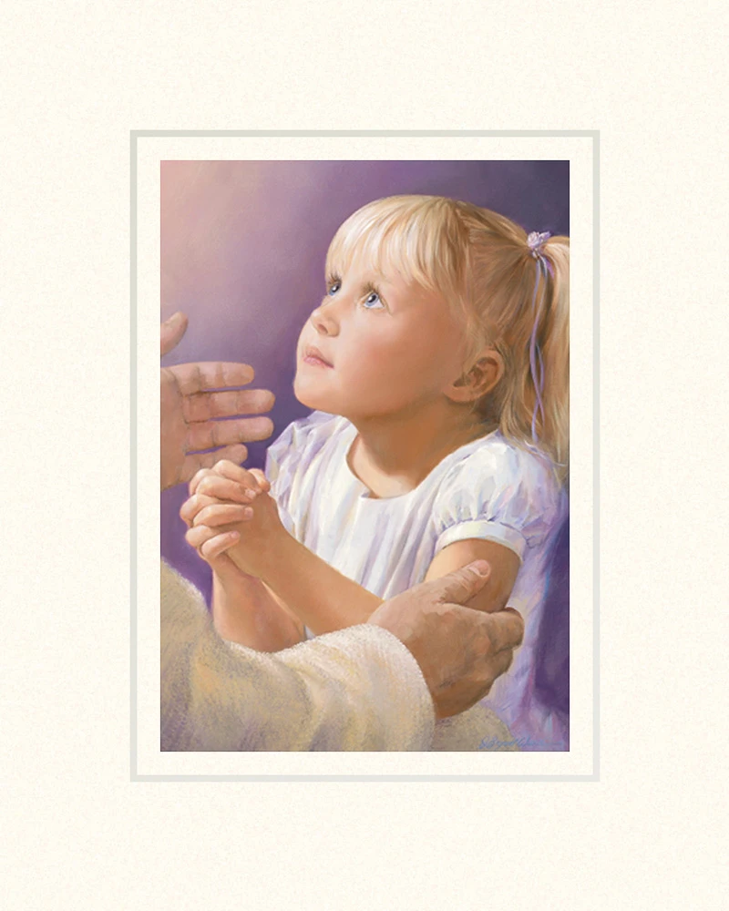AF - 8×10 - mat - A Child's Prayer 5x7 print - 5x7 Print in 8x10 mat by Jay Bryant Ward<BR>8×10 マットプリント 「子供の祈り」ジェイ・ブライアント・ワード 画