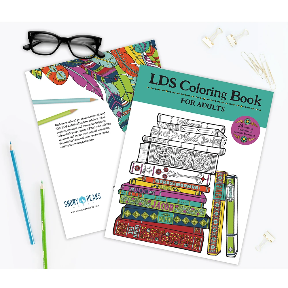 RM - Coloring Book - LDS Coloring Book for Adults by Misty Choate, Jesse DeJong, & Shannon DeJong <BR/>末日聖徒の大人用色塗り(作者:ミスティ・チョート、ジェシー・デジョン、シャノン・デジョン)