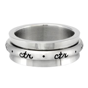 RM - CTR Ring - Cursive Spinner - Stainless steel<BR>CTRリング カースィヴ(筆記体)スピナー(ステンレススチール製)
