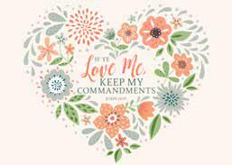 CC - 5X7 Print - If Ye Love Me, Keep My Commandments: 2019 YW Theme Items - 5X7 Print<BR>2019年 若い女性テーマ - 5X7プリント  (12.7cm×17.8cm)「もしあなたがたがわたしを愛するならば,わたしのいましめを守るべきである。」