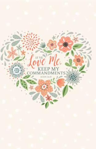 CC - Journal - If Ye Love Me, Keep My Commandments: 2019 YW Theme Items - Journal<BR>2019年 若い女性テーマ - 日記帳「もしあなたがたがわたしを愛するならば,わたしのいましめを守るべきである。」