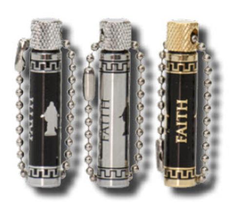 CC - Oil Vial - Christus Oil Vial - Faith (Silver) <BR>オイルケース キリスト - 信仰 (シルバー色) 【日本在庫2点】