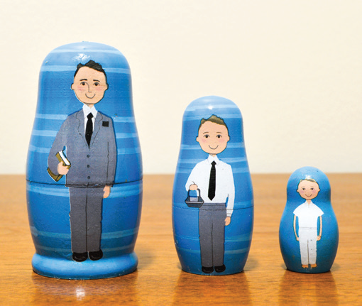 CC - Nesting doll - I hope they call me on a mission 3-pc<BR>マトリョーシカ - 宣教師になりたいな(3点セット)