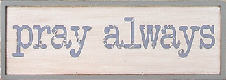 CC - Wall plaque - Prawall plaquey always<BR>壁掛け 「いつも祈る」