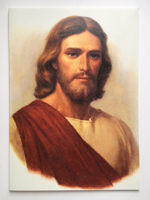 CF - Card without Envelopes -  Christ Red Robe(Footprints) Cards<BR>5×7カード(封筒なし) キリスト(足跡)【在庫限り】