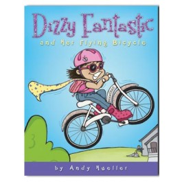 CF - Paperback - Dizzy Fantastic and Her Flying Bicycle by Andy Hueller 【在庫限りあと2点】