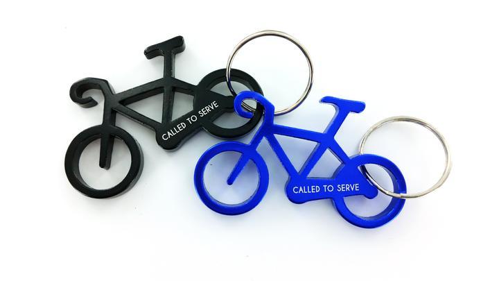CF - Keychain - Called to Serve - Keychain - Bike(Blue)<BR>キーチェーン 「主によって召された」バイク (青)【日本在庫1点】