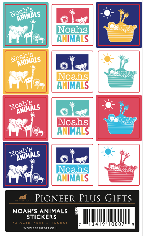 CF - Stickers - Noah's Animals Stickers<BR>ノアの動物 ステッカー