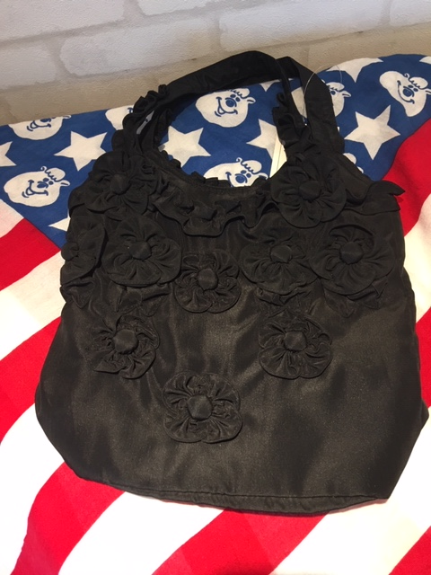 CF - Scripture Bag - Ebony Flower Scripture Flower Scripture Purse<BR>聖典バッグ (黒いお花) 【在庫限り】