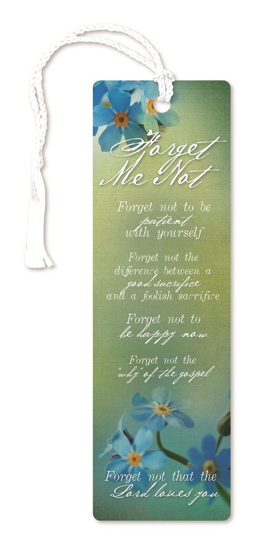 CF - Bookmark - Forget-Me-Not Bookmark <BR>しおり - 忘れな草
