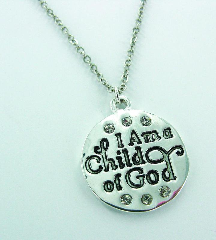 CF - Nacklace - Child of God <BR>ネックレス - かみのこです (丸型ストーン)