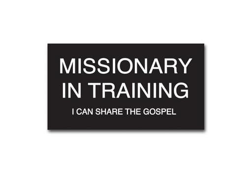 CF - Badge - Missionary in Training Slip-on Badge <BR>バッヂ - 「トレーニング中の宣教師」(スリップオン)