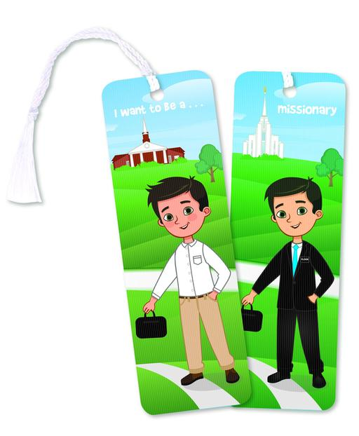 CF - Bookmark - Boy to Missionary 3D Bookmark <BR>しおり - 男の子から宣教師に
