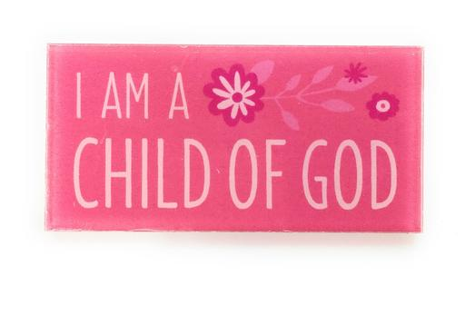 CF - Badge - I am a Child of God Badge Girl - Pink<BR>バッヂ  かみのこです(ピンク)【在庫限り】