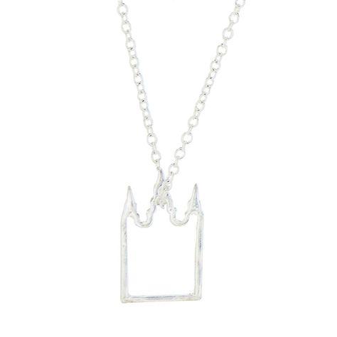 CF - Necklace - Salt Lake Temple - Silver<BR>ソルトレーク神殿 ネックレス シルバー 【日本在庫3点】