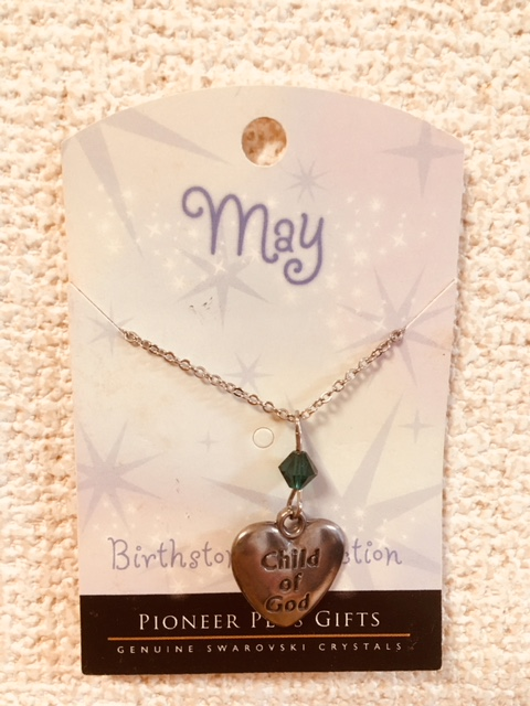 CF - Necklace - Child of God  Birthstone Necklace - May<BR>誕生石ネックレス ハート (5月) 【在庫限りあと1点】