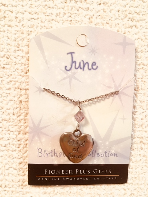 CF - Necklace - Child of God  Birthstone Necklace - June<BR>誕生石ネックレス ハート (6月) 【在庫限りあと5点】