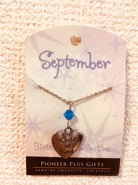 CF - Necklace - Child of God  Birthstone Necklace - September<BR>誕生石ネックレス ハート (9月) 【在庫限りあと1点】