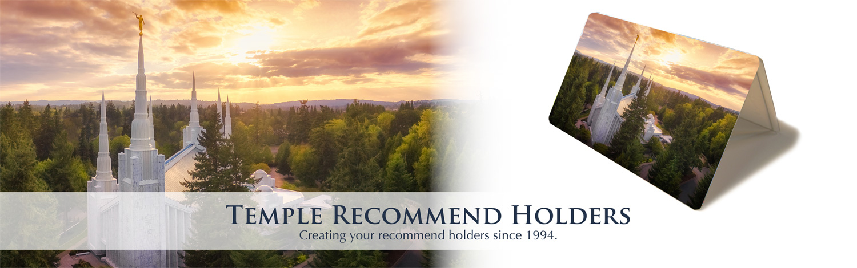 CH - Recommend Holder - Portland Oregon Temple (Color Photo)<BR>神殿推薦状ケース ポートランド神殿