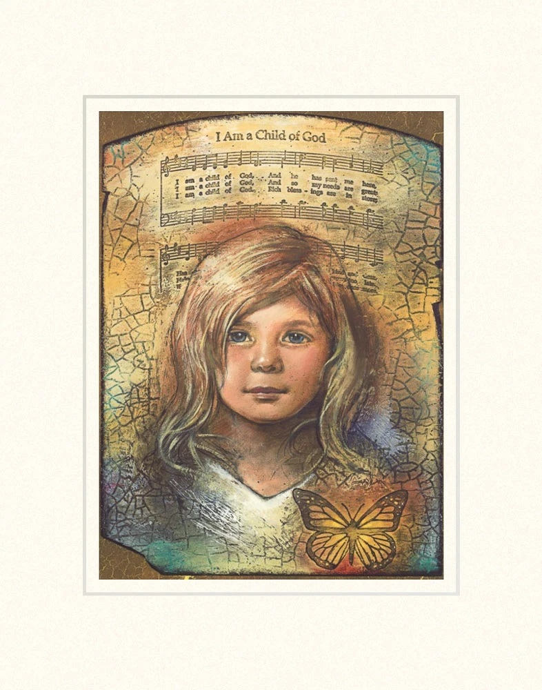 AF -11×14 Print - I Am a Child of God  / 11x14 matted/Cary Henrie<BR>神の子です 11×14 マットプリント
