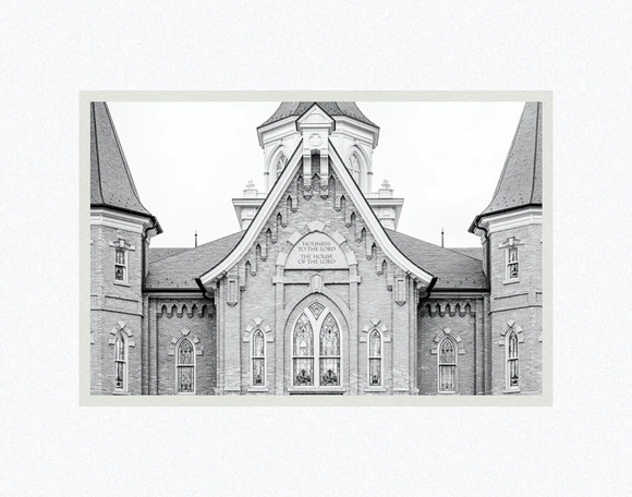 AF - 7x10.5 - Print - Provo City Center Temple - Holiness by Evan Lurker - 7x10.5 - Print - 7x10.5 print matted to 11x14<BR>プロボシティセンター神殿「聖さ」 27.9 cm x 35.6 cm