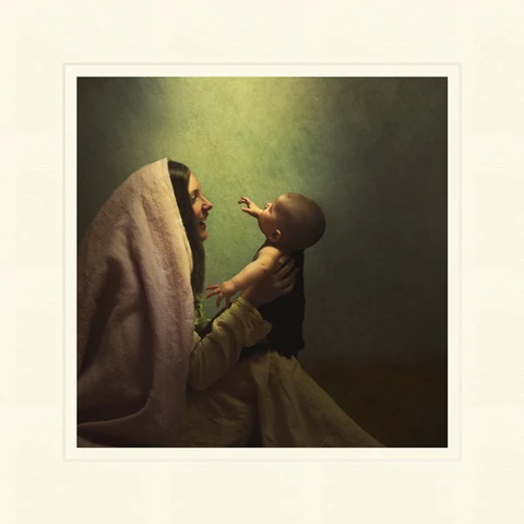 AF - 9x9 - Print - Unto Us A Son is Given by Eva Koleva Timothy - 9x9 - Print - 9x9 print matted to 12x12<BR>私たちに息子が与えられた 30.48 cm x 30.48 cm