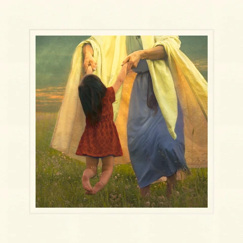 AF - 9x9 - Print - As a Little Child by Eva Koleva Timothy - 9x9 - Print - 9x9 print matted to 12x12<BR>幼子のように 30.48 cm x 30.48 cm