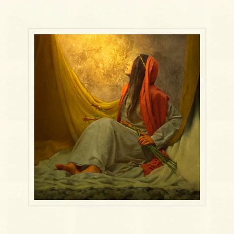 AF - 9x9 - Print - The Lord is With Thee by Eva Koleva Timothy - 9x9 - Print - 9x9 print matted to 12x12<BR>主は共にいらっしゃいます 30.48 cm x 30.48 cm