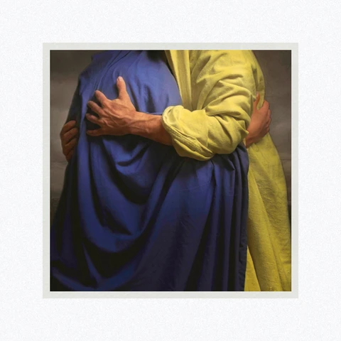 AF - 9x9 - Print - Filled with Mercy by Eva Koleva Timothy - 9x9 - Print - 9x9 print matted to 12x12<BR>憐みに満ちている 30.48 cm x 30.48 cm