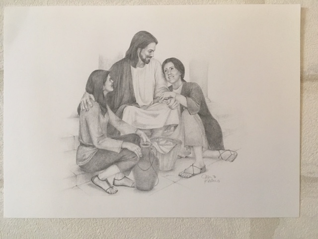 GP - 5×7 Print - Christ and Young Women 白黒 5x7 【在庫限り】
