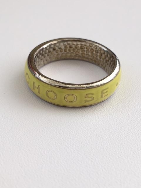 (サイズ限定US 7.0)GS - CTR Ring - Coose the Right Yellow 【在庫1点限り】