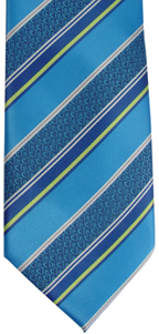 RM - Tie - Youth Striped Royal Blue<BR>ネクタイ(ユース)/ロイヤルストライプブルー