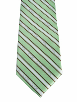 RM - Tie - CTR Youth Striped Green/Brown<BR>ネクタイ (ユース) /ストライプグリーン&ブラウン