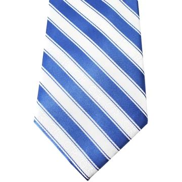 RM - Tie -  Youth Blue/White Stripe CTR Tie ネクタイ (ユース) CTR ブルー&ホワイト ストライプ