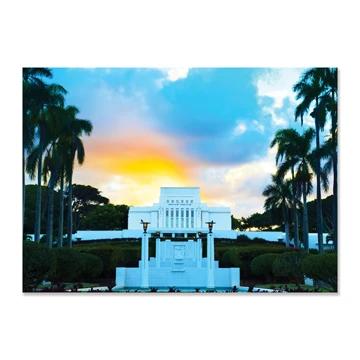 "RM - 5 x 7 Print - Laie Hawaii - Sunset 5 x 7"" <BR/>ハワイ州ライエ神殿(夕日) プリントカード5 x 7"""