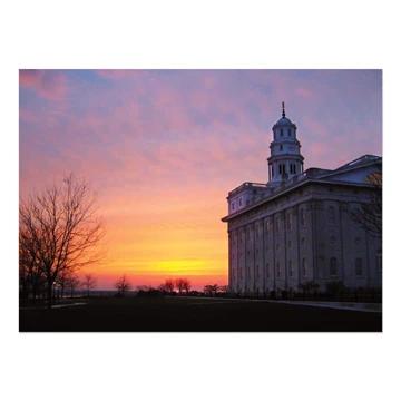 "RM - 5 x 7 Print - Nauvoo Illinois - Sunset 5 x 7"" <BR/>イリノイ州ノーブー神殿(夕焼け) プリントカード5 x 7"""
