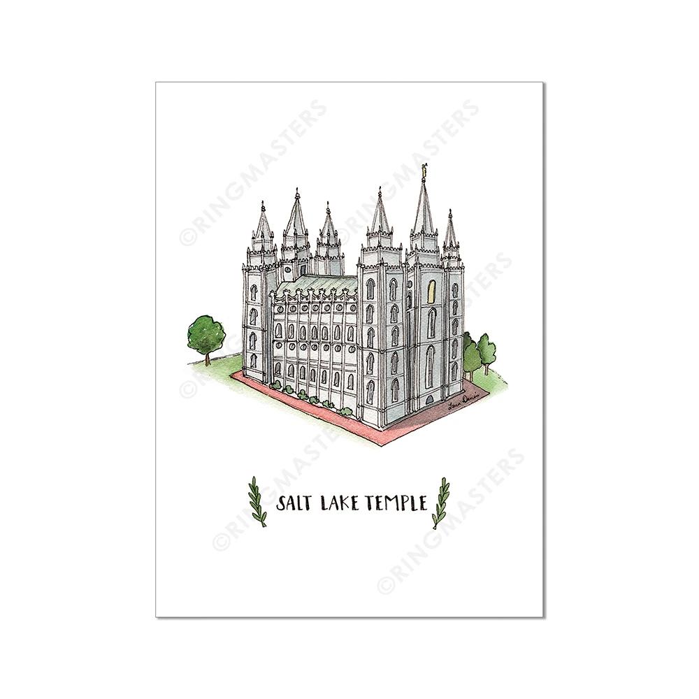 "RM -  3 x 4 Print - Salt Lake Temple Illustration by: Laura Davies 3 x 4"" <BR/>ソルトレーク神殿(ラウラ・デービス画) プリントカード3 x 4"""