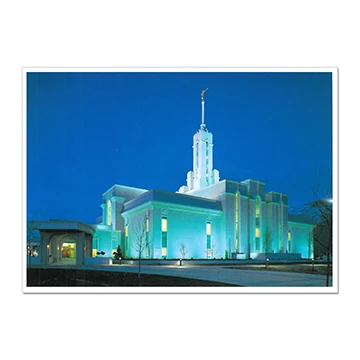 "RM - 5 x 7 Print - Mount Timpanogos Utah - Dusk 5 x 7"" <BR/>ユタ州マウントティンパノーゴス神殿(夕暮れ) プリントカード5 x 7"""