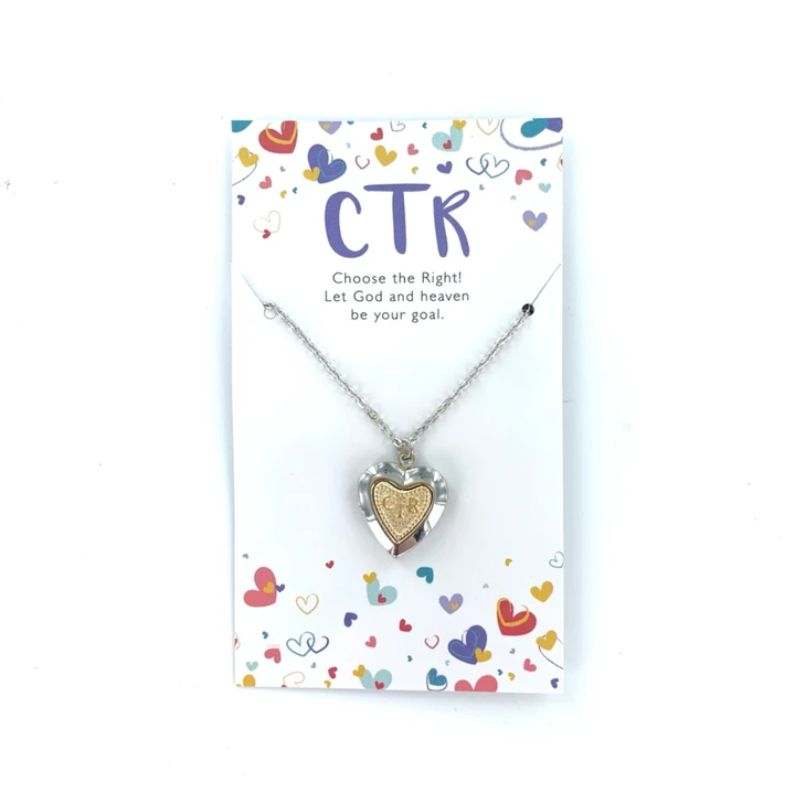 CF - Necklace - CTR Heart Locket - Two-toned<BR>CTRハートロケットタイプネックレス(ツートンカラー)