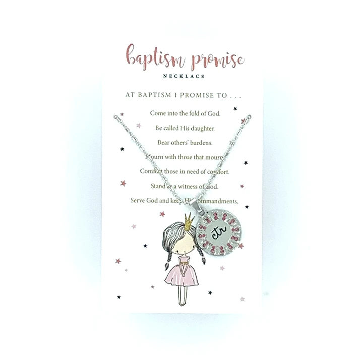 CF - Necklace - Baptism Promise Necklace-Pink<BR>バプテスマの約束ネックレス(ピンク)