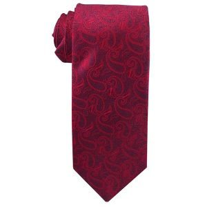 JB - Youth Tie - Angel Moroni Red Paisley (Youth)<BR>ネクタイ(ユース)天使モロナイ ペイズリー (レッド)